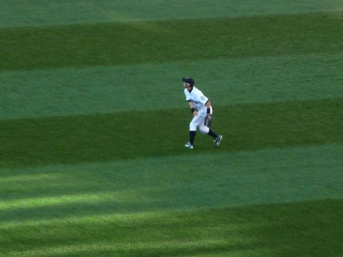 i took plenty of photos of ichiro for the barkers.