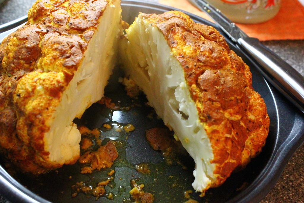 Whole Roasted Tandoori Cauliflower.